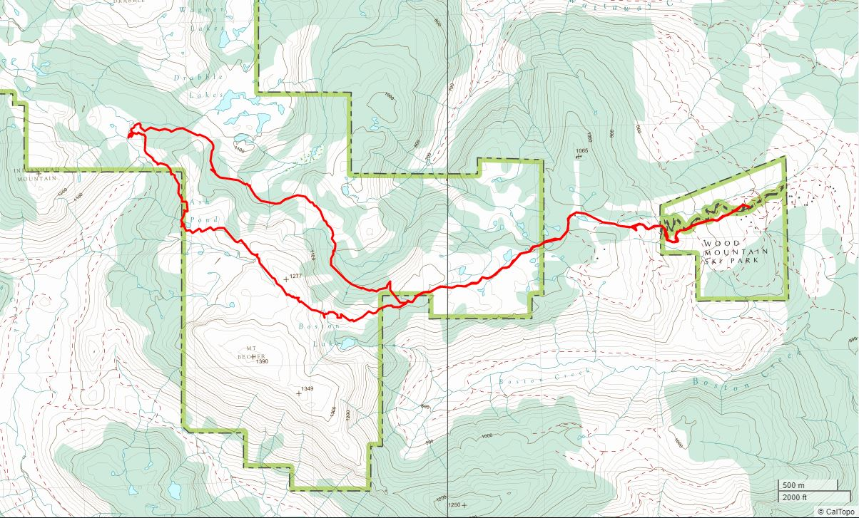 Ash Pond - USGS Topo Map Track