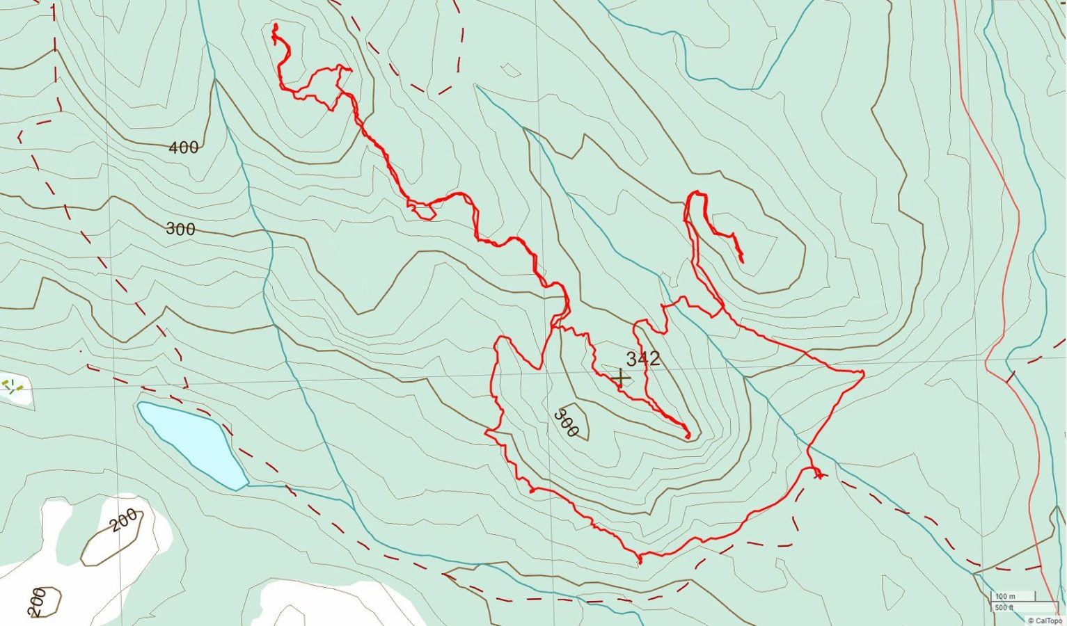 Beech's, N. Chinese & S. Chinese Mtns. - USGS Topo Map Track
