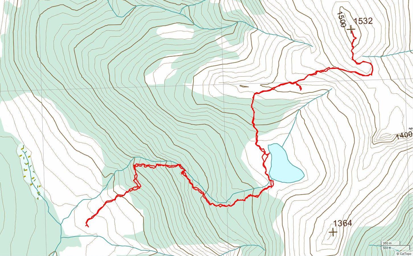 5040 Peak - USGS Topo Map Track